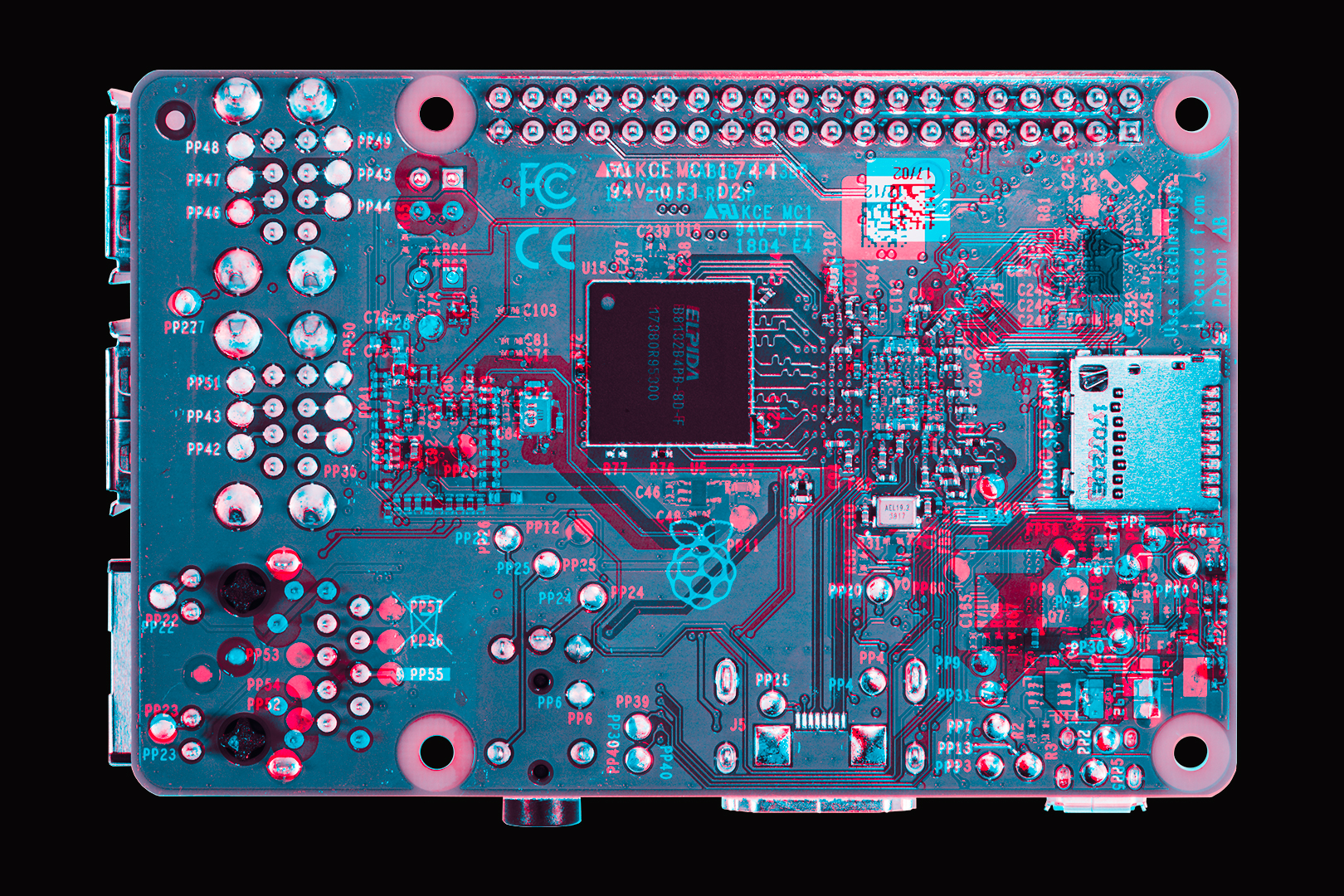 Circuit Board Layout Bottom Layer
